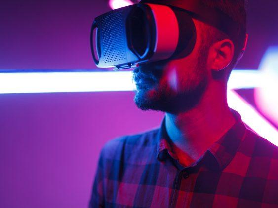 Blick auf das virtuelle Messegelände